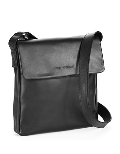 Derek Alexander Slim Flap Shoulder-BLACK-One Size