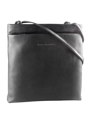 Derek Alexander Square Slim Leather Tote-BLACK-One Size