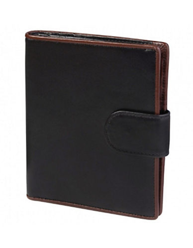 Derek alexander 3Part Show Card Wallet W/ Id Window  Tab Closure Window  Tab Closure black One Size