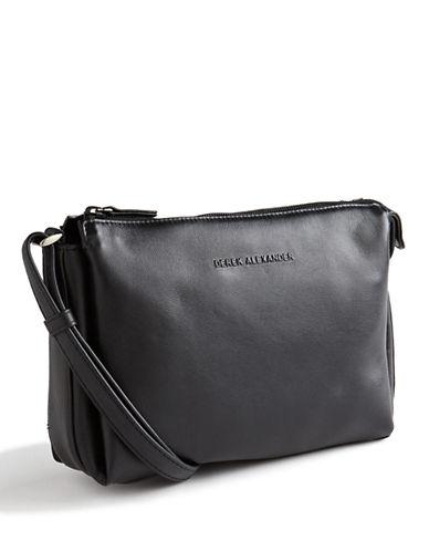 Derek Alexander Leather Top Zip Purse-BLACK-One Size