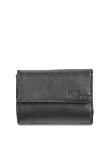 Derek Alexander Medium Leather Clutch-BLACK-One Size