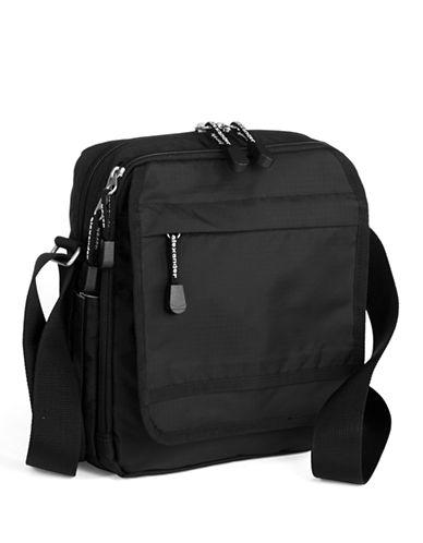 Derek Alexander North South Top Zip Shoulder Bag-BLACK-One Size