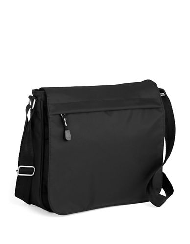 Derek Alexander Full Flap Shoulder Bag-BLACK-One Size