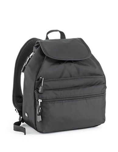 Derek Alexander Medium Backpack-BLACK-One Size