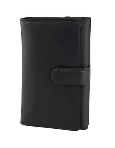 Derek Alexander Ladies Trifold Wallet-BLACK/RED-One Size