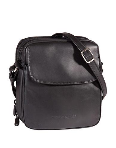 Derek Alexander Leather Crossbody Bag-BLACK-One Size