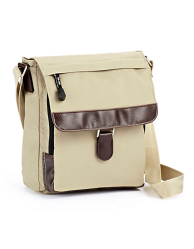 Derek Alexander Half Flap Leisure Bag-BEIGE-One Size