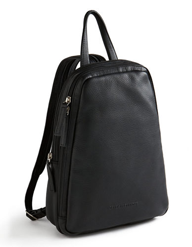 Derek Alexander Central Park Backpack-BLACK-One Size