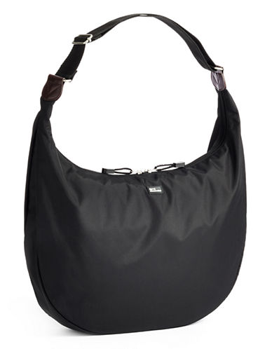 Derek Alexander Large Nylon Hobo Bag-BLACK-One Size