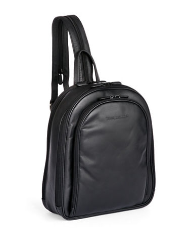 Derek Alexander Three Zip Organizer Backpack-BLACK-One Size