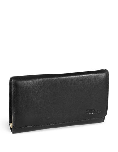Derek Alexander Large Leather Clutch Wallet-BLACK-One Size