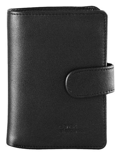 Derek Alexander Leather Folio Wallet-BLACK-One Size