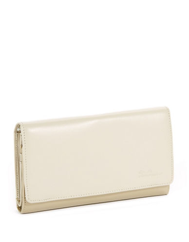 Derek Alexander Large Multi-Compartment Clutch-BEIGE-One Size