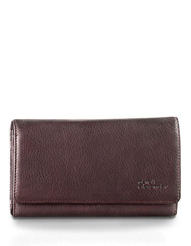 Derek Alexander Large Leather Clutch Wallet-COPPER-One Size