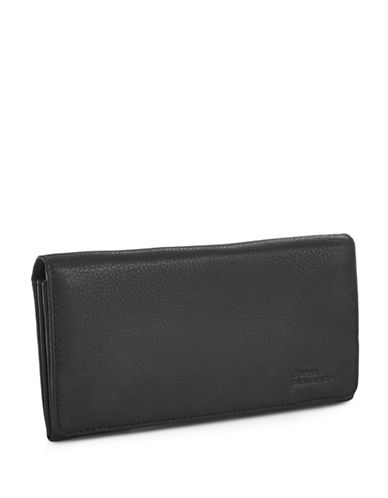 Derek Alexander Large Multi Compartment Clutch Wallet-BLACK-One Size