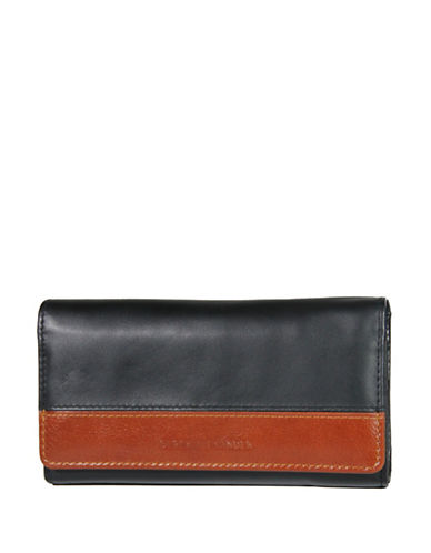 Derek Alexander Multi Compartment Clutch Ladies Wallet-BLACK-One Size