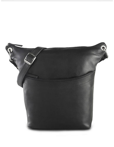 Derek Alexander North South Top Zip Slouch Handbag-BLACK-One Size