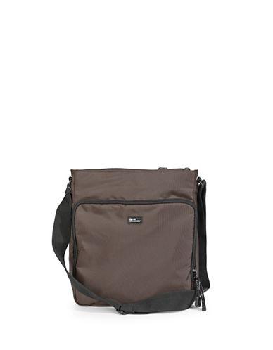 Derek Alexander Nylon Crossbody Bag-BROWN-One Size