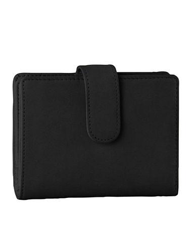 Derek Alexander Leather Wing Wallet-BLACK-One Size