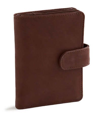 Derek Alexander Leather Wing Wallet-BROWN-One Size