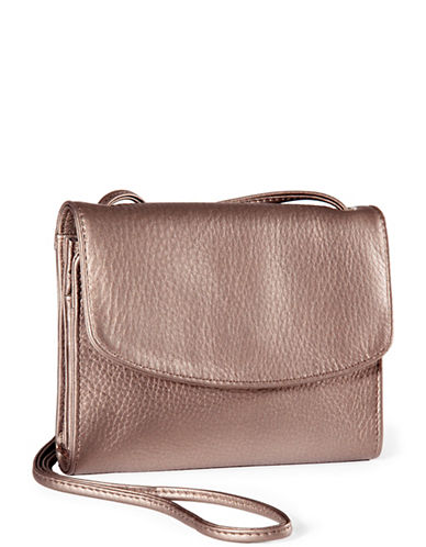 Derek Alexander Small Half Flap Organizer-COPPER-One Size