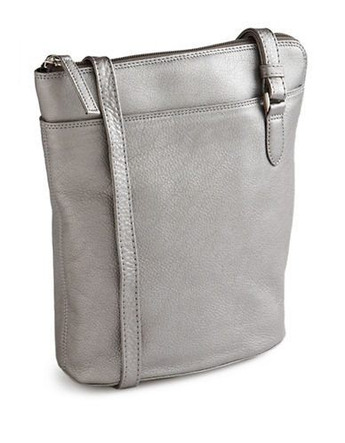 Derek Alexander Two Sided Slim Bag-SILVER-One Size