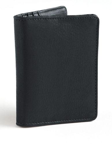Derek Alexander Leather Cardholder-BLACK-One Size