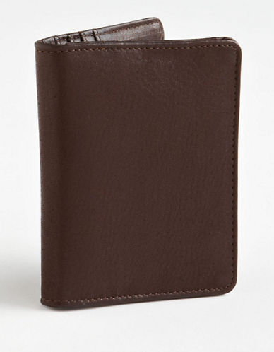Derek Alexander Leather Cardholder-BROWN-One Size