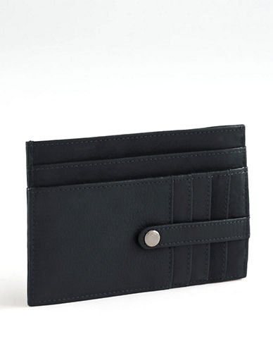 Derek Alexander Leather Cardholder-BLACK-One Size