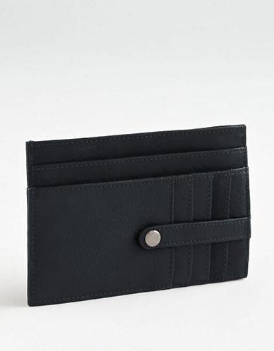 Derek Alexander Leather Cardholder-BROWN-One Size