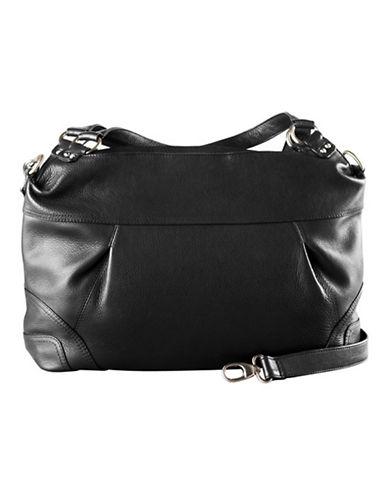 Derek Alexander East West Top Zip Shoulder Bag-BLACK-One Size