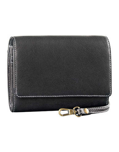 Derek Alexander Small Convertible Multi Organizer Clutch Bag-BLACK-One Size