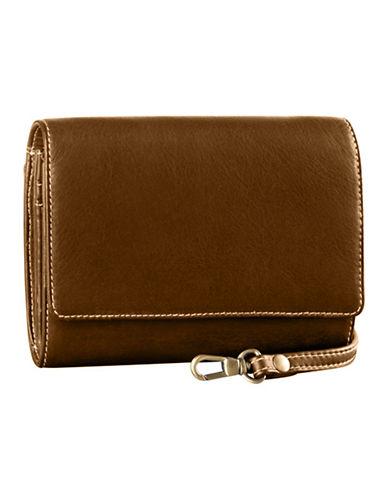 Derek Alexander Small Convertible Multi Organizer Clutch Bag-BROWN-One Size