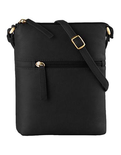 Derek Alexander North South Slim Top Zip Extra Pockets-BLACK-One Size