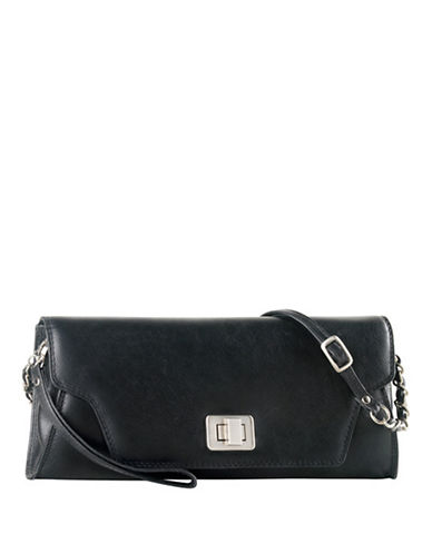 Derek Alexander Envelope Clutch With Wrislet-BLACK-One Size