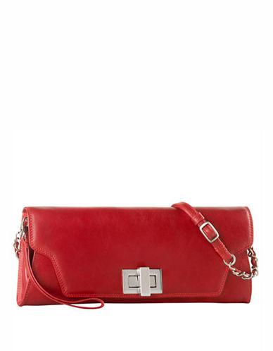 Derek Alexander Envelope Clutch With Wrislet-RED-One Size