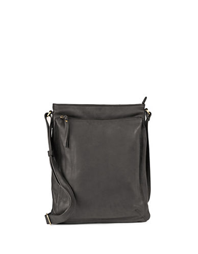 Derek Alexander Medium Leather Top Zip Bag-BLACK-One Size