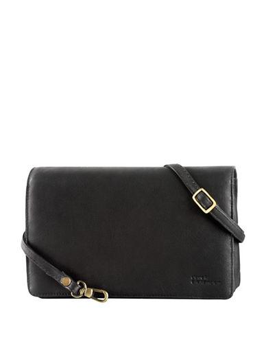Derek Alexander Leather Flap Organizer Bag-BLACK-One Size