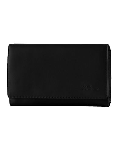 Derek Alexander Large Multi Compartment Clutch-BLACK-One Size