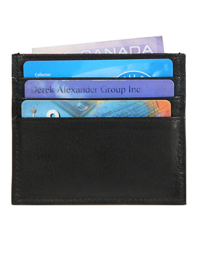 Derek Alexander 2 Side Card Holder-BLACK-One Size
