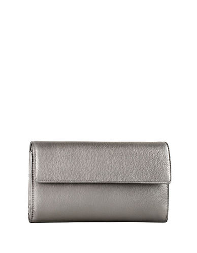 Derek Alexander Large Credit Card Wallet-SILVER-One Size
