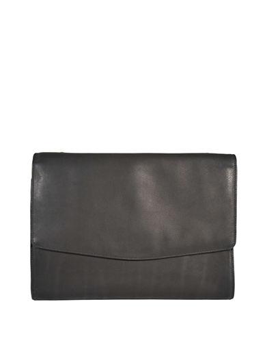 Derek Alexander Leather Tablet Case Bag-BLACK-One Size