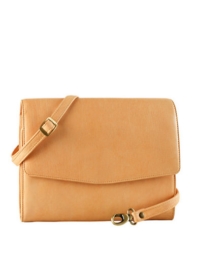 Derek Alexander Leather Tablet Case Bag-TAN-One Size