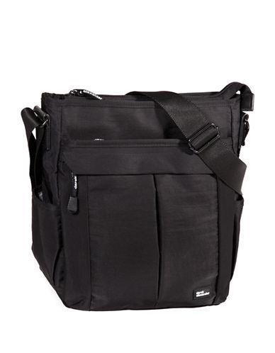 Derek Alexander Multi-Compartment Shoulder Bag-BLACK-One Size
