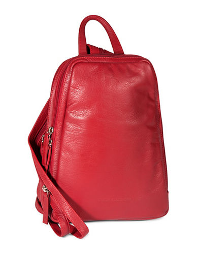 Derek Alexander Central Park Backpack-RED-One Size
