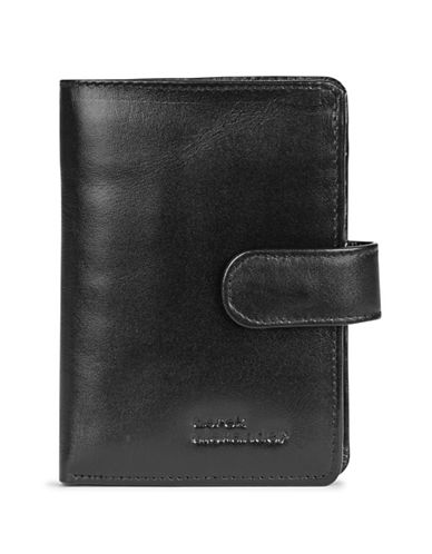 Derek Alexander Three-Part Leather Wallet-BLACK-One Size