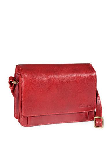 Derek Alexander Leather Multi Compartment Organizer Bag-RED-One Size