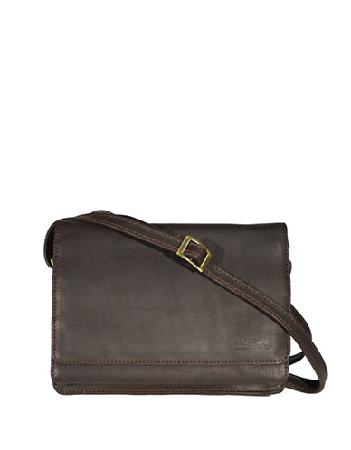Derek Alexander East West 3/4 Flap Organizer-BROWN-One Size