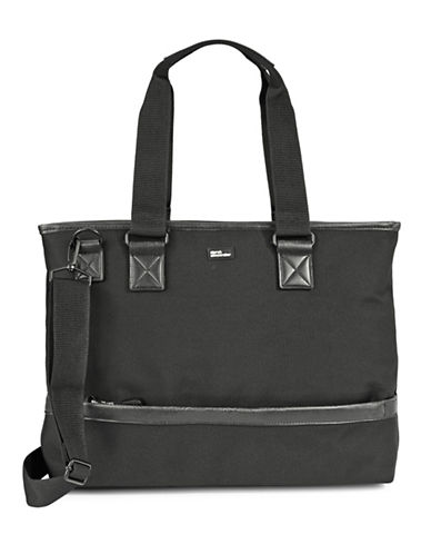 Derek Alexander Nylon Top Zip Business Case-BLACK-One Size