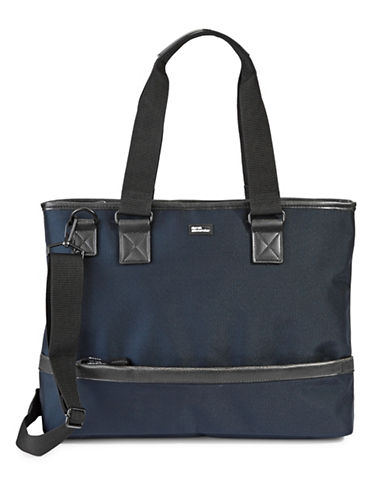 Derek Alexander Nylon Top Zip Business Case-NAVY-One Size